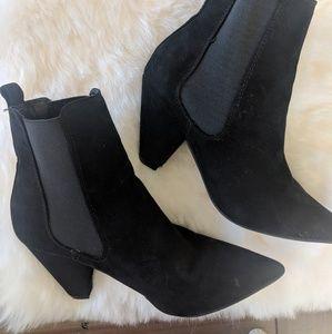 ASOS black suedette boots